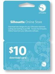 Silhouette $10 download code-digitaal