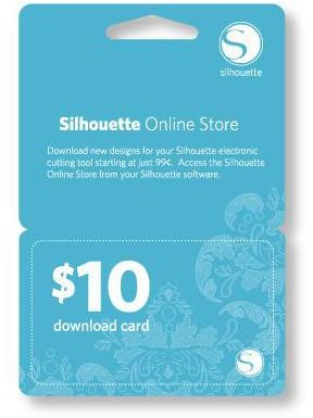 Silhouette $10 download code-digitaal