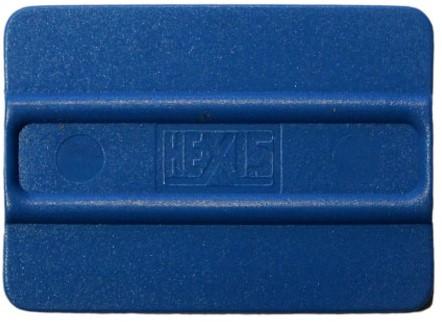 Plastic squeegee, gemiddelde hardheid, blauw