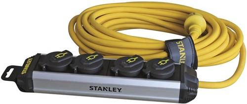 Stanley stekkerdoos 4x plug, 10M kabel IP44