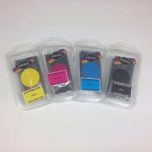 Versicolor chip 65liter voor Roland - Black